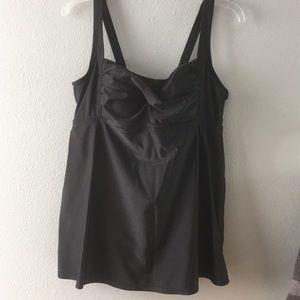 NWOT-Ava Viv- Black Swimsuit- Tankini style- 16W